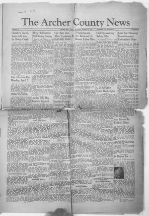 Primary view of object titled 'The Archer County News (Archer City, Tex.), Vol. 29, No. 26, Ed. 1 Thursday, March 21, 1940'.