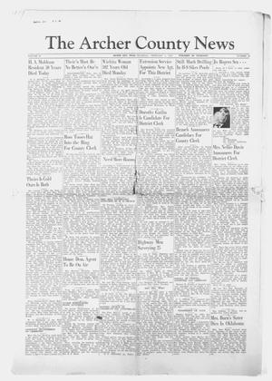 Primary view of object titled 'The Archer County News (Archer City, Tex.), Vol. 29, No. 19, Ed. 1 Thursday, February 1, 1940'.
