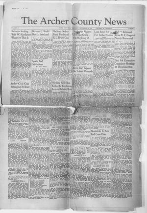 Primary view of object titled 'The Archer County News (Archer City, Tex.), Vol. 30, No. 1, Ed. 1 Thursday, September 26, 1940'.