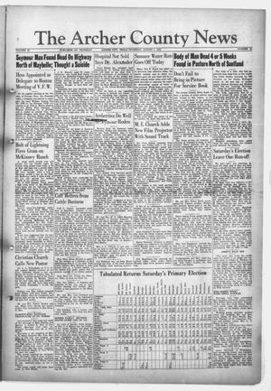 Primary view of object titled 'The Archer County News (Archer City, Tex.), Vol. 32, No. 31, Ed. 1 Thursday, August 1, 1946'.
