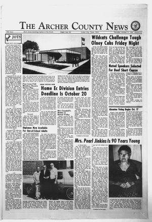 Primary view of object titled 'The Archer County News (Archer City, Tex.), Vol. 56, No. 41, Ed. 1 Thursday, October 11, 1973'.