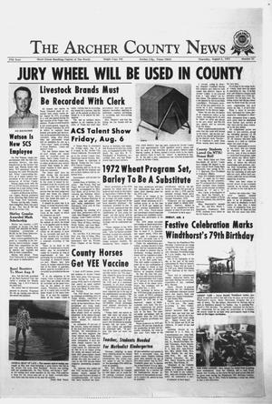 Primary view of object titled 'The Archer County News (Archer City, Tex.), Vol. 57, No. 31, Ed. 1 Thursday, August 5, 1971'.
