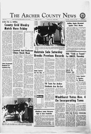 Primary view of object titled 'The Archer County News (Archer City, Tex.), Vol. 55, No. 42, Ed. 1 Thursday, October 30, 1969'.