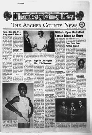 Primary view of object titled 'The Archer County News (Archer City, Tex.), Vol. 56, No. 47, Ed. 1 Thursday, November 22, 1973'.
