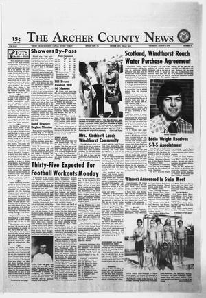 Primary view of object titled 'The Archer County News (Archer City, Tex.), Vol. 57, No. 31, Ed. 1 Thursday, August 8, 1974'.