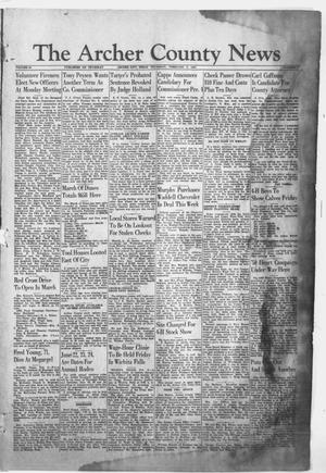 Primary view of object titled 'The Archer County News (Archer City, Tex.), Vol. 36, No. 7, Ed. 1 Thursday, February 9, 1950'.