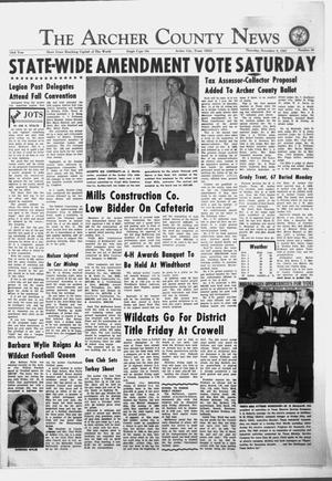 Primary view of object titled 'The Archer County News (Archer City, Tex.), Vol. 53, No. 49, Ed. 1 Thursday, November 9, 1967'.