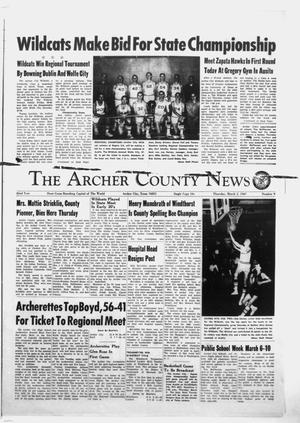 Primary view of object titled 'The Archer County News (Archer City, Tex.), Vol. 52, No. 9, Ed. 1 Thursday, March 2, 1967'.