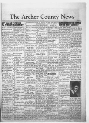 Primary view of object titled 'The Archer County News (Archer City, Tex.), Vol. 44, No. 26, Ed. 1 Thursday, June 12, 1958'.