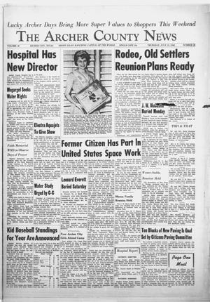Primary view of object titled 'The Archer County News (Archer City, Tex.), Vol. 48, No. 28, Ed. 1 Thursday, July 12, 1962'.