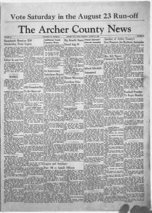 Primary view of object titled 'The Archer County News (Archer City, Tex.), Vol. 44, No. 36, Ed. 1 Thursday, August 21, 1958'.