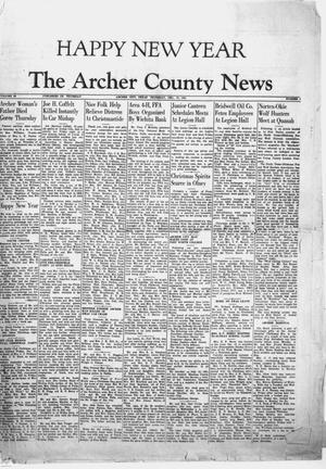 Primary view of object titled 'The Archer County News (Archer City, Tex.), Vol. 38, No. 1, Ed. 1 Thursday, December 27, 1951'.