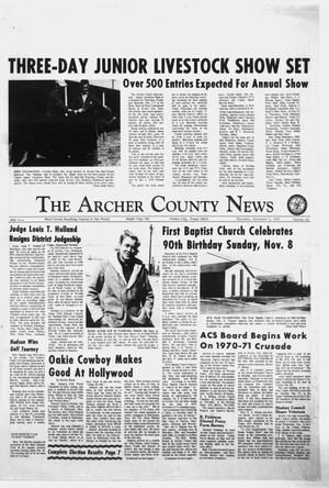 Primary view of object titled 'The Archer County News (Archer City, Tex.), Vol. 56, No. 45, Ed. 1 Thursday, November 5, 1970'.
