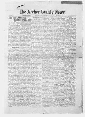 Primary view of object titled 'The Archer County News (Archer City, Tex.), Vol. 18, No. 11, Ed. 1 Friday, September 28, 1928'.