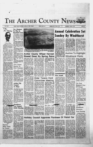 Primary view of object titled 'The Archer County News (Archer City, Tex.), Vol. 61, No. 23, Ed. 1 Thursday, June 8, 1978'.