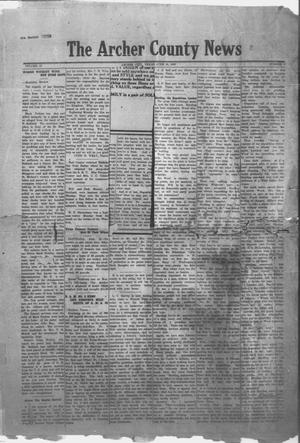 Primary view of object titled 'The Archer County News (Archer City, Tex.), Vol. 10, No. 9, Ed. 1 Friday, June 18, 1920'.