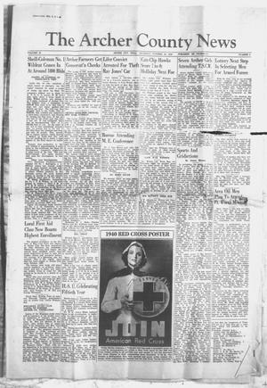 Primary view of object titled 'The Archer County News (Archer City, Tex.), Vol. 30, No. 5, Ed. 1 Thursday, October 24, 1940'.