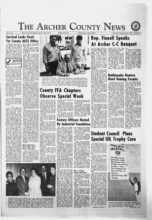 Primary view of object titled 'The Archer County News (Archer City, Tex.), Vol. 56, No. 8, Ed. 1 Thursday, February 22, 1973'.