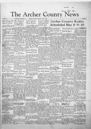 Primary view of object titled 'The Archer County News (Archer City, Tex.), Vol. 44, No. 20, Ed. 1 Thursday, May 1, 1958'.