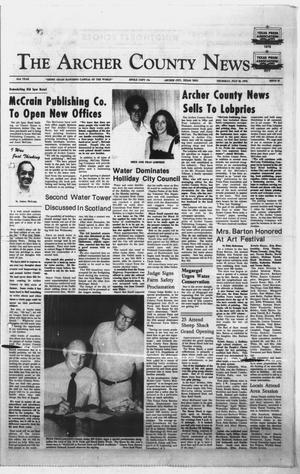 Primary view of object titled 'The Archer County News (Archer City, Tex.), Vol. 61, No. 29, Ed. 1 Thursday, July 20, 1978'.