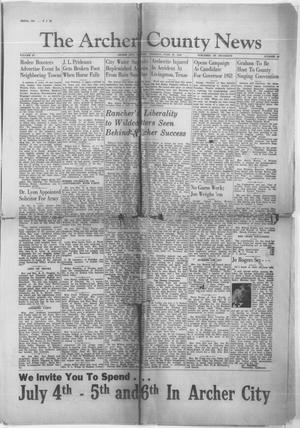 Primary view of object titled 'The Archer County News (Archer City, Tex.), Vol. 29, No. 40, Ed. 1 Thursday, June 27, 1940'.