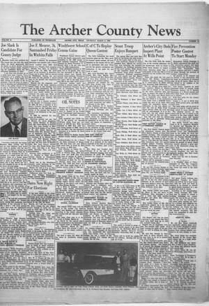 Primary view of object titled 'The Archer County News (Archer City, Tex.), Vol. 44, No. 12, Ed. 1 Thursday, March 6, 1958'.