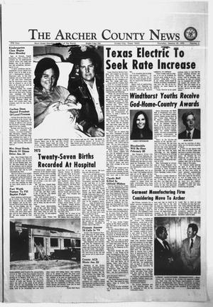 Primary view of object titled 'The Archer County News (Archer City, Tex.), Vol. 57, No. 2, Ed. 1 Thursday, January 10, 1974'.