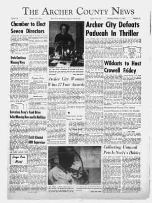 Primary view of object titled 'The Archer County News (Archer City, Tex.), Vol. 48, No. 41, Ed. 1 Thursday, October 11, 1962'.