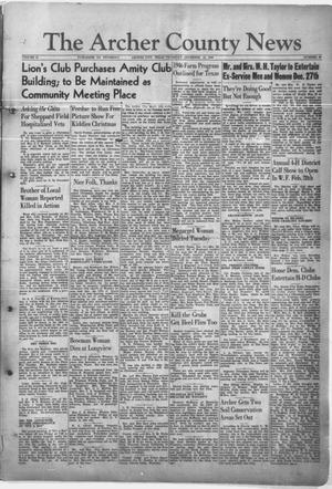 Primary view of object titled 'The Archer County News (Archer City, Tex.), Vol. 31, No. 50, Ed. 1 Thursday, December 13, 1945'.
