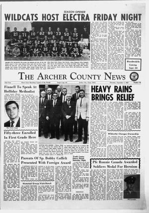 Primary view of object titled 'The Archer County News (Archer City, Tex.), Vol. 53, No. 36, Ed. 1 Thursday, September 7, 1967'.