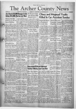 Primary view of object titled 'The Archer County News (Archer City, Tex.), Vol. 33, No. 37, Ed. 1 Thursday, September 11, 1947'.