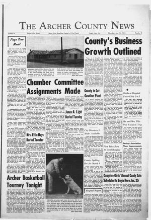 Primary view of object titled 'The Archer County News (Archer City, Tex.), Vol. 49, No. 2, Ed. 1 Thursday, January 10, 1963'.