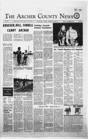 Primary view of object titled 'The Archer County News (Archer City, Tex.), Vol. 61, No. 45, Ed. 1 Thursday, November 9, 1978'.