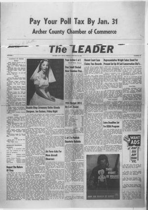 Primary view of object titled 'The Leader (Archer City, Tex.), Vol. 1, No. 22, Ed. 1 Friday, January 28, 1955'.
