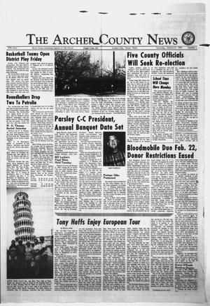Primary view of object titled 'The Archer County News (Archer City, Tex.), Vol. 57, No. 1, Ed. 1 Thursday, January 3, 1974'.