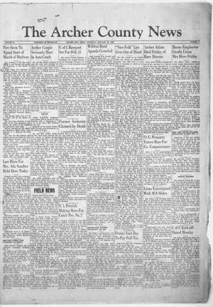 Primary view of object titled 'The Archer County News (Archer City, Tex.), Vol. 44, No. 7, Ed. 1 Thursday, January 30, 1958'.