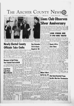 Primary view of object titled 'The Archer County News (Archer City, Tex.), Vol. 52, No. 1, Ed. 1 Thursday, January 5, 1967'.