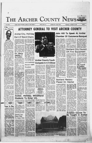 Primary view of object titled 'The Archer County News (Archer City, Tex.), Vol. 61, No. 3, Ed. 1 Thursday, January 19, 1978'.