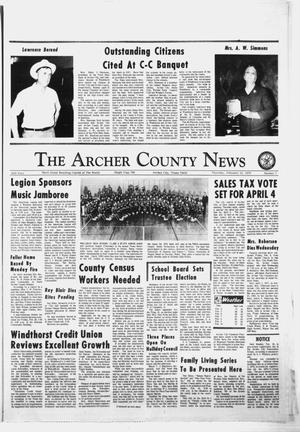 Primary view of object titled 'The Archer County News (Archer City, Tex.), Vol. 56, No. 7, Ed. 1 Thursday, February 12, 1970'.
