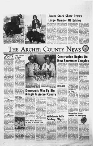 Primary view of object titled 'The Archer County News (Archer City, Tex.), Vol. 57TH YEAR, No. 44, Ed. 1 Thursday, November 7, 1974'.
