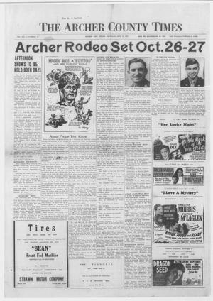Primary view of object titled 'The Archer County Times (Archer City, Tex.), Vol. 21, No. 15, Ed. 1 Thursday, September 27, 1945'.