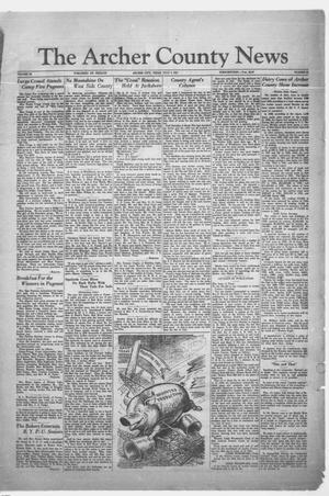 Primary view of object titled 'The Archer County News (Archer City, Tex.), Vol. 20, No. 51, Ed. 1 Friday, July 3, 1931'.