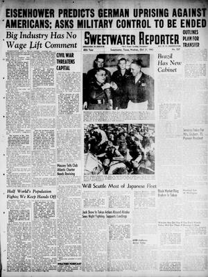 Primary view of object titled 'Sweetwater Reporter (Sweetwater, Tex.), Vol. 48, No. 257, Ed. 1 Wednesday, October 31, 1945'.