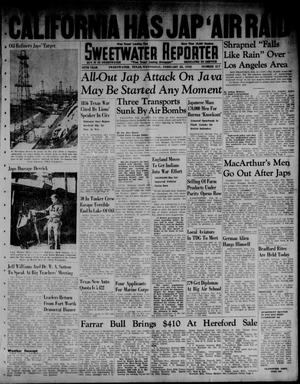Primary view of object titled 'Sweetwater Reporter (Sweetwater, Tex.), Vol. 45, No. 217, Ed. 1 Wednesday, February 25, 1942'.