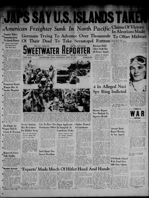 Primary view of object titled 'Sweetwater Reporter (Sweetwater, Tex.), Vol. 45, No. 269, Ed. 1 Wednesday, June 10, 1942'.