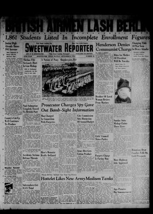 Primary view of object titled 'Sweetwater Reporter (Sweetwater, Tex.), Vol. 45, No. 86, Ed. 1 Monday, September 8, 1941'.