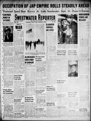 Primary view of object titled 'Sweetwater Reporter (Sweetwater, Tex.), Vol. 48, No. 212, Ed. 1 Sunday, September 9, 1945'.