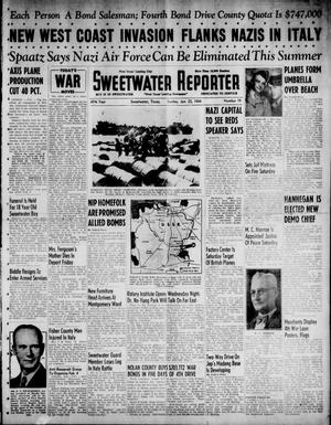 Primary view of object titled 'Sweetwater Reporter (Sweetwater, Tex.), Vol. 47, No. 19, Ed. 1 Sunday, January 23, 1944'.