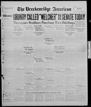 Primary view of The Breckenridge American (Breckenridge, Tex.), Vol. 9, No. 300, Ed. 1, Wednesday, November 13, 1929