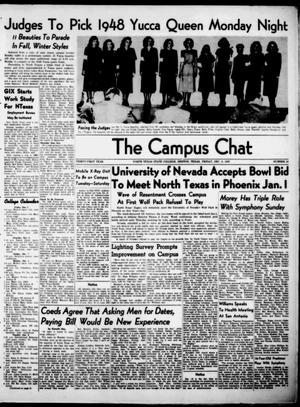 Primary view of object titled 'The Campus Chat (Denton, Tex.), Vol. 31, No. 10, Ed. 1 Friday, December 5, 1947'.